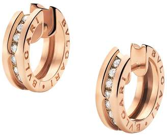1d5b148aff3b0 ... authentic at harrods bvlgari rose gold diamond b.zero1 earrings 0ff63  8a630