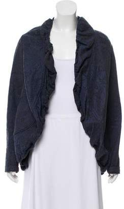 Zero Maria Cornejo Open Front Textured Jacket