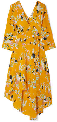 Diane von Furstenberg Eloise Floral-print Silk Wrap Dress - Yellow