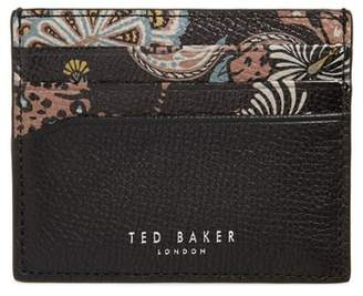 Ted Baker Print Leather Card Holder