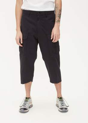 Stone Island Shadow Project Brushed Cotton Satin Cropped Pant