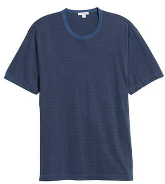 James Perse Microstripe Ringer T-Shirt