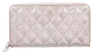 Chanel Metallic L-Gusset Wallet