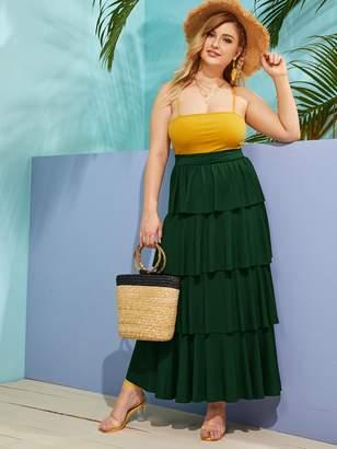Shein Plus Layered Ruffle Hem Skirt