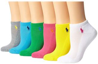 Lauren Ralph Lauren Cushion Sole Mesh Top Low Cut 6 Pack Women's Low Cut Socks Shoes