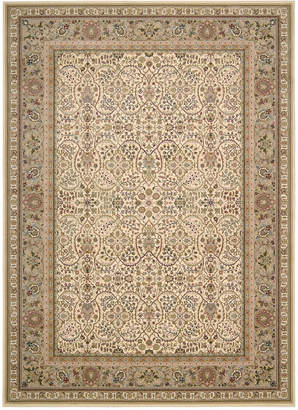 "Kathy Ireland Home Antiquities American Jewel Ivory 5'3"" x 7'4"" Area Rug"