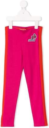 Kenzo side stripe skiing flamingo patch leggings