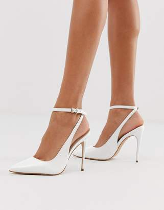 Aldo pointed heeled stilettos in white leather