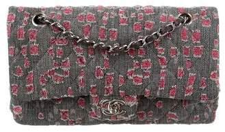 Chanel Distressed Denim Classic Medium Double Flap Bag