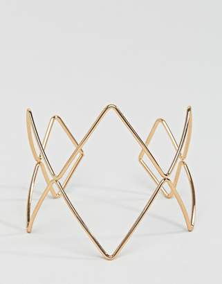 NY:LON geometric statement bracelet