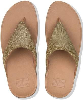 278f2bf99 FitFlop Lottie Glitzy Toe Thong Platform Flip Flop Shoes - Gold