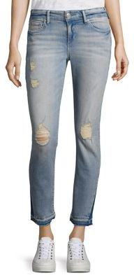 True Religion Cora Bleach-Wash Distressed Jeans $219 thestylecure.com