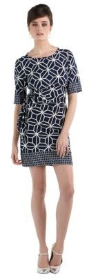 Donna Morgan Printed Side Tie Dress