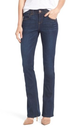 Petite Women's Wit & Wisdom Ab-Solution Itty Bitty Bootcut Jeans $68 thestylecure.com
