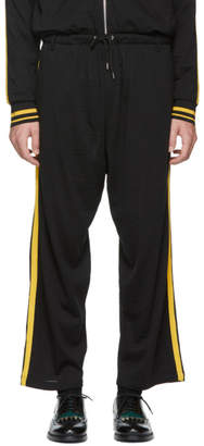 McQ Black and Yellow Side Stripe Lounge Pants