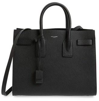 Saint Laurent 'Small Sac De Jour' Leather Tote - Black $2,890 thestylecure.com