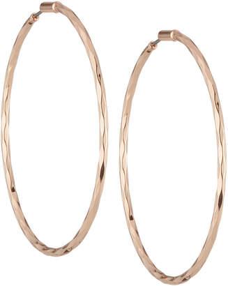 Lydell NYC Rose Golden Hoop Earrings