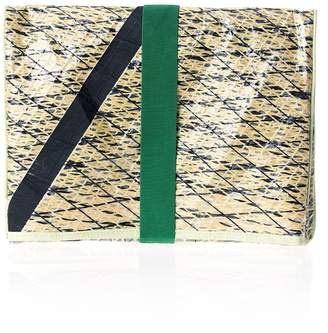 Huner Fold Over Clutch 0013 With Black Stripe