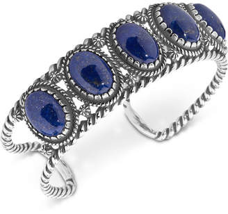 American West Lapis Lazuli Decorative Cuff Bracelet in Sterling Silver