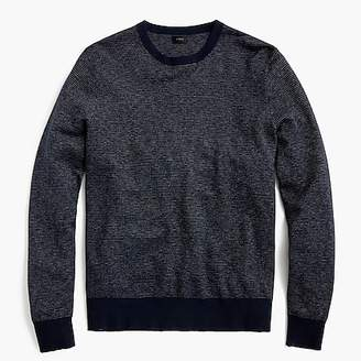 J.Crew Cotton-cashmere piqué crewneck sweater in bird's-eye stitch