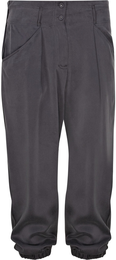 Rebecca Taylor Cropped silk harem pants