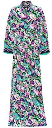 Emilio Pucci Belted printed silk shirt dress