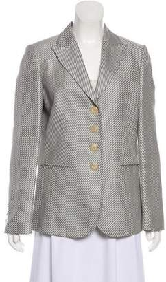 Armani Collezioni Striped Button-Up Blazer