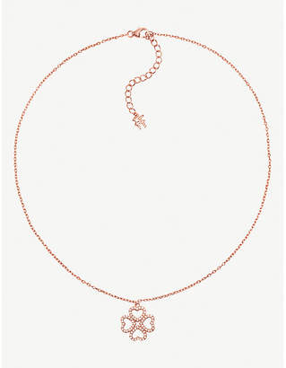 Folli Follie Miss Heart4Heart rose gold-plated and cubic zirconia necklace