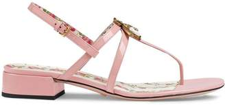 Gucci Patent leather sandals with bee