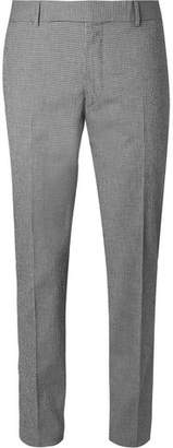 Dunhill Black Slim-Fit Checked Stretch-Cotton Suit Trousers