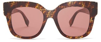 Fendi Ff Cat Eye Acetate Sunglasses - Womens - Brown