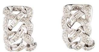 18K Diamond Braided Earclips