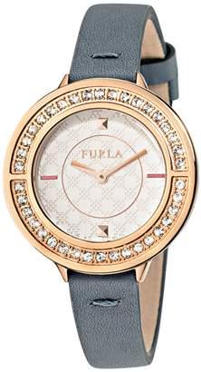 Furla Club White Dial Calfskin Leather Watch
