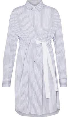 Maison Margiela Striped Cotton-Poplin Shirt Dress