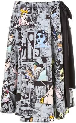 Prada Collage Poplin Skirt