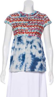 Gryphon Patterned Short Sleeve Top