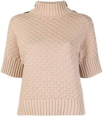 See by Chloe half-sleeve turtleneck sweater