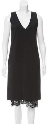 Tome Lace-Accented Midi Dress