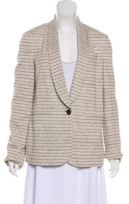 Brunello Cucinelli Striped Shawl Collar Blazer