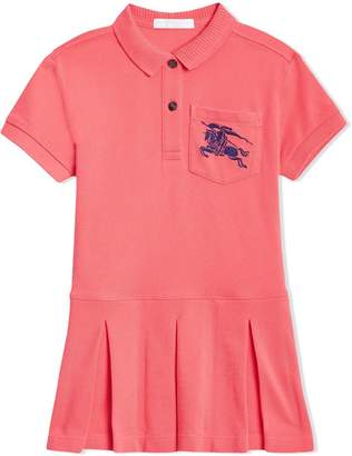 Burberry EKD Logo Cotton Polo Dress