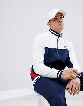 Fila Vintage Track Jacket With Panel In Navy