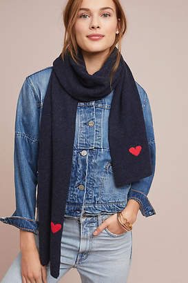 Anthropologie Kitted in Cashmere x Heart to Heart Cashmere Scarf