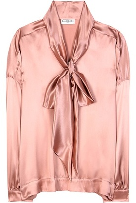 Balenciaga Satin silk blouse