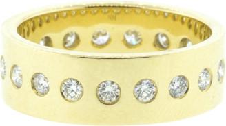 Nancy Newberg Polished Narrow Diamond Cigar Band Ring