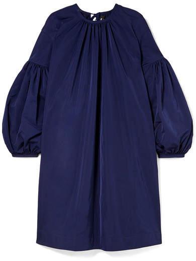 CALVIN KLEIN 205W39NYC - Gathered Taffeta Dress - Navy
