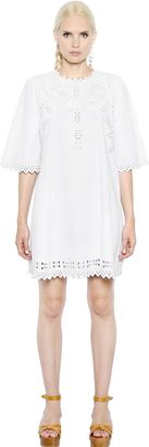 Embroidered Cotton Poplin Dress $375 thestylecure.com