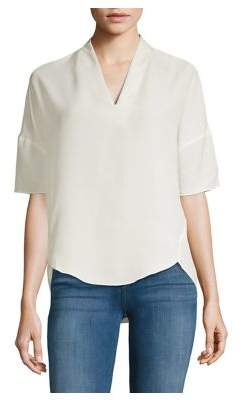 Halston H Elbow Sleeve V-Neck Top
