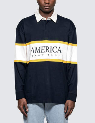 Perry Ellis L/S Rugby Shirt