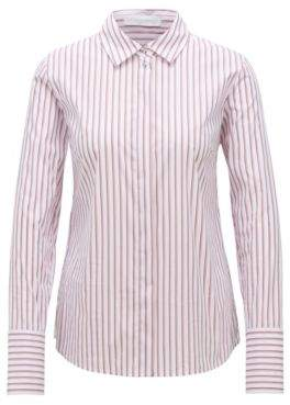 BOSS Hugo Regular-fit blouse vertical stripe pattern 4 Patterned