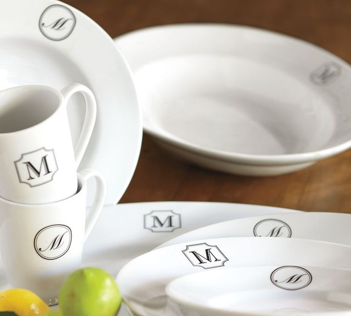 Monogrammable Great White Dinnerware